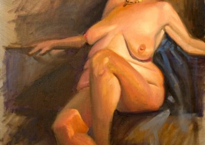kengoldmanfineart-Sketch Group Nude-Oil-24x18