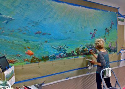 Goldmanfineart-Public-Art-Rady's-Marine-Mural-Acrylic-Detail-Painting-Stephanie-Goldman