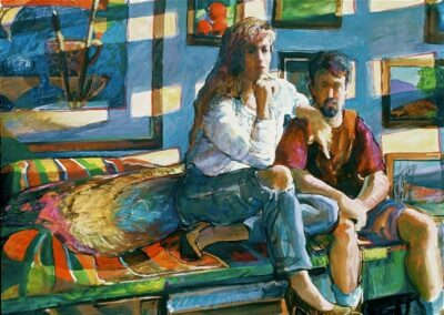 kengoldmanfineart-Rob and Michele-Acrylic-Figures-38x50