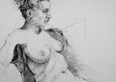 stephaniegoldmanfineart-Female Nude-Charcoal Drawing-18x24