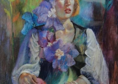 stephaniegoldmanfineart-Flowergirl-Pastel-34x22