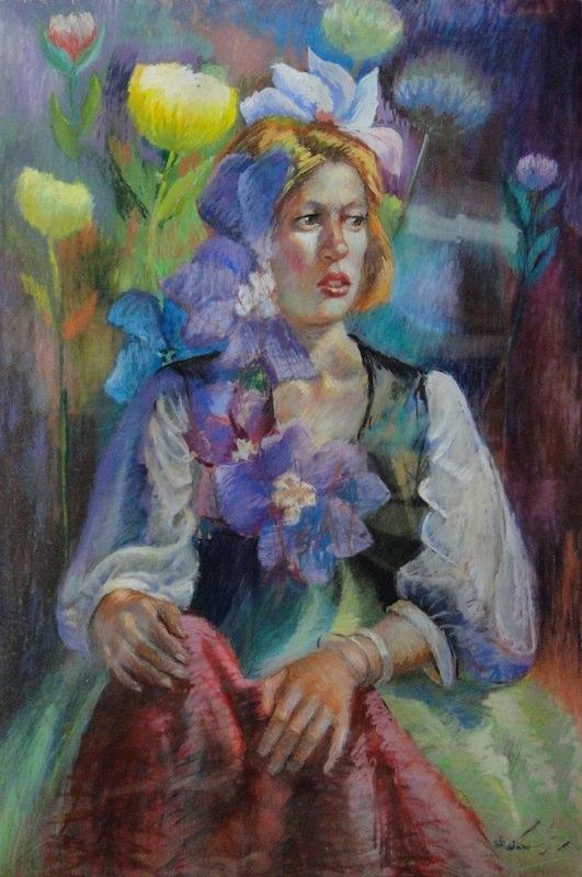 Stephanie_Goldman-Flowergirl-Pastel-34x22