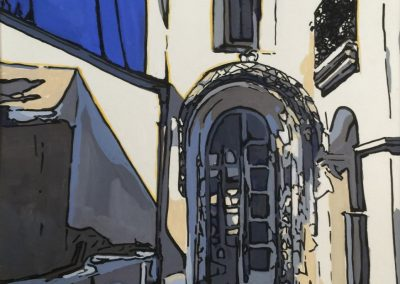 stephaniegoldmanfineart_Avenida-Cresta-Arch-Gouache-11x8