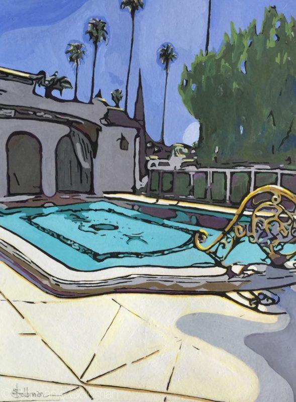 Stephanie_Goldman_Avenida-Cresta-Pool-Gouache-11x8