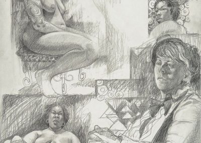 kengoldmanfineart_Graphite_Figure Drawing_24x18 - SOLD - Giclees Available
