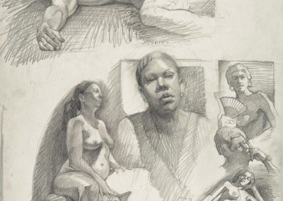 kengoldmanfineart_Graphite_Figure Drawing_18x24 - Giclees Available
