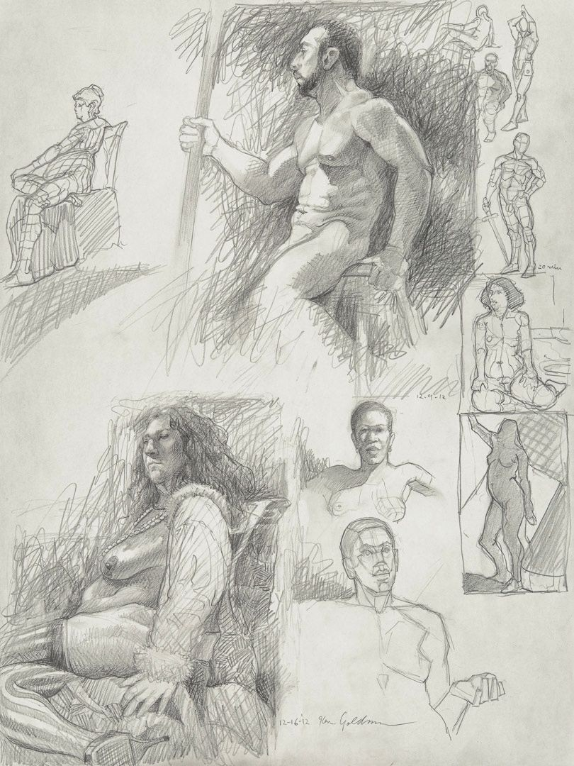 Ken_Goldman_Graphite_Figure Drawing_24x18