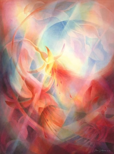 Ken Goldman_Fuschia_Veiled_Watercolor_30x22 - SOLD - Giclee Available