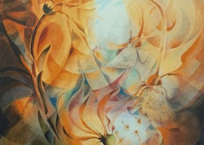 kengoldmanfineart_Autumn's Gift_Veiled_Watercolor30x22 - SOLD - Giclee Available