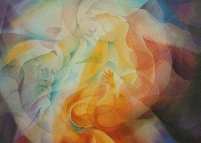 kengoldmanfineart_Heart Seed_Veiled_Watercolor_30x22 - SOLD - Giclees Available