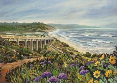 kengoldmanfineartn_Del Mar Vista in June_Oil_30x40 - SOLD - Giclee Available