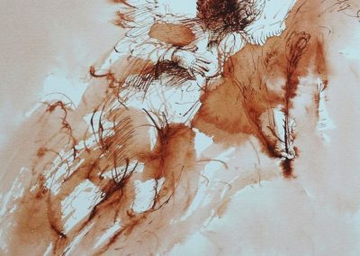 stephaniegoldmanfineart_Angel_of_The-Annunciation_Ink_Watercolor_14x11