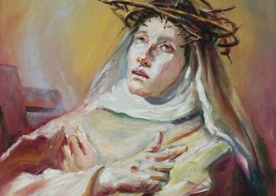 stephaniegoldmanfineart-Saint-Catherine-of-Siena_after-Tiepolo-Oil-28x22