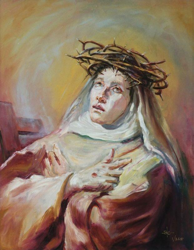 Stephanie_Goldman-Saint-Catherine-of-Siena_after-Tiepolo-Oil-28x22