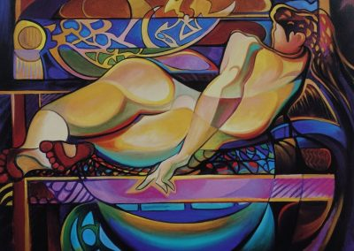 kengoldmanfineart_Repose_Visual Conversations_Giclee_Ken Goldman_48x60 - Original and Giclees Available