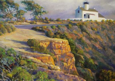 kengoldmanfineart_Cabrillo Lighthouse_Oil Landscape_18x24 - SOLD - Giclee Available