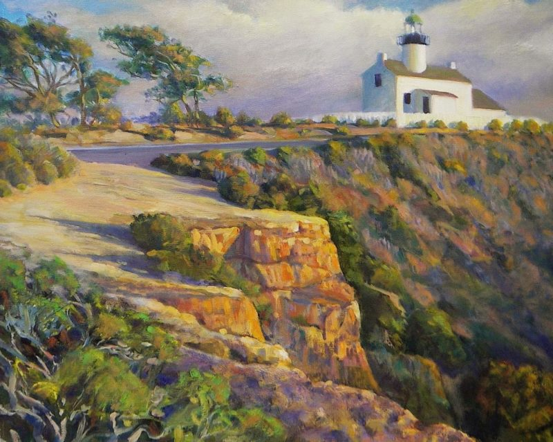 Ken Goldmanfineart_Cabrillo Lighthouse_Oil Landscape_18x24 - SOLD - Giclee Available