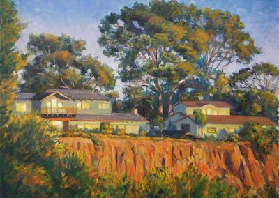 kengoldmanfineart_Sun Drenched Cliffs _Oil_16x20 - SOLD