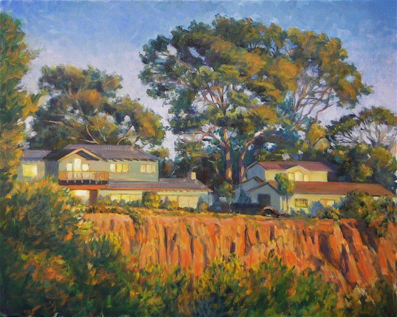 Ken Goldmanfineart_Sun Drenched Cliffs _Oil_16x20 - SOLD