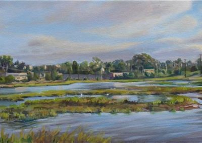kengoldmanfineart_Famosa Slough_2_Oil_10X30 - Giclee Available