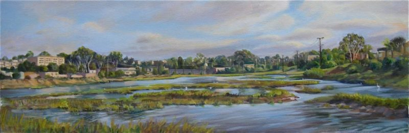 Famosa Slough 2, Oil 10X30 Sold - Giclee Available