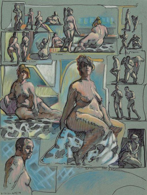 Ken_Goldman_Figure_Giclee_Ink:Pastel Gestures- 05