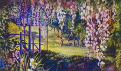Ken_Goldman_Landscape_Giclee_Wisteria and Footbridge - 55