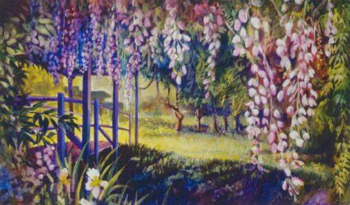 Ken_Goldman_Landscape_Giclee_Wisteria and Footbridge - 55