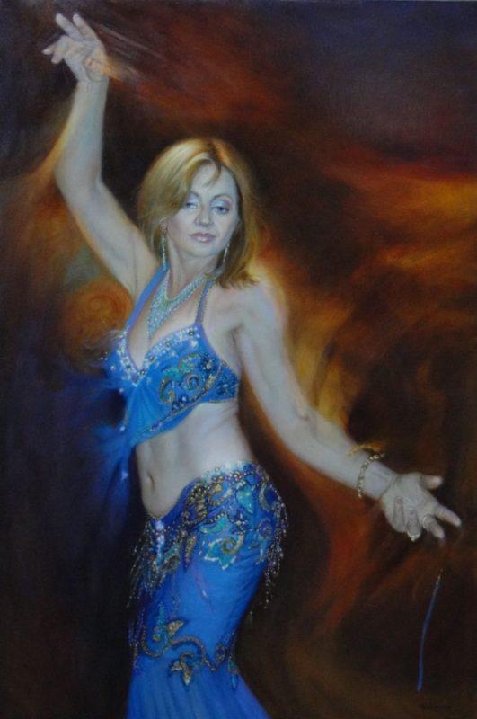 Stephanie Goldmanfineart-Ahlame-Oil-36x24