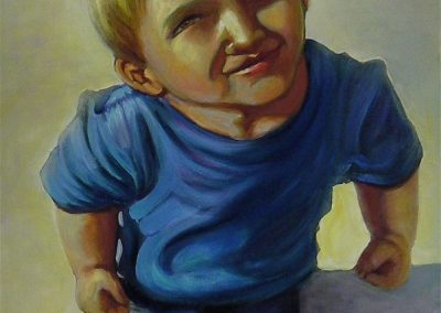 stephaniegoldmanfineart_Boy in Blue Tee-Shirt_Oil-48x24