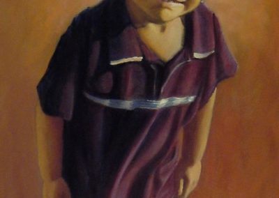 stephaniegoldmanfineart_Boy-in-Purple-Shirt_Oil-48x24