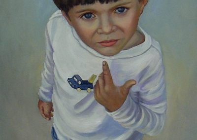 stephaniegoldmanfineart_Boy in White Tee Shirt_Oil-48x24