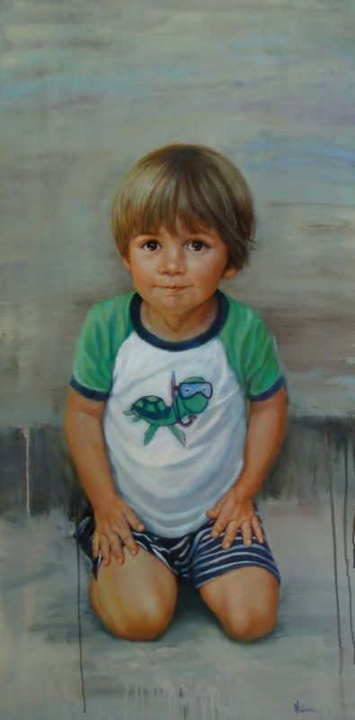 stephaniegoldmanfineart_Boy-with-Turtle-Shirt_Oil-48x24