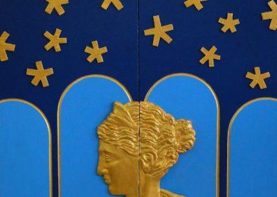 stephaniegoldmanfineart-Closed-Portrait-of-Erika-Acrylic-&-Gold-Leaf-45x30 - SOLD