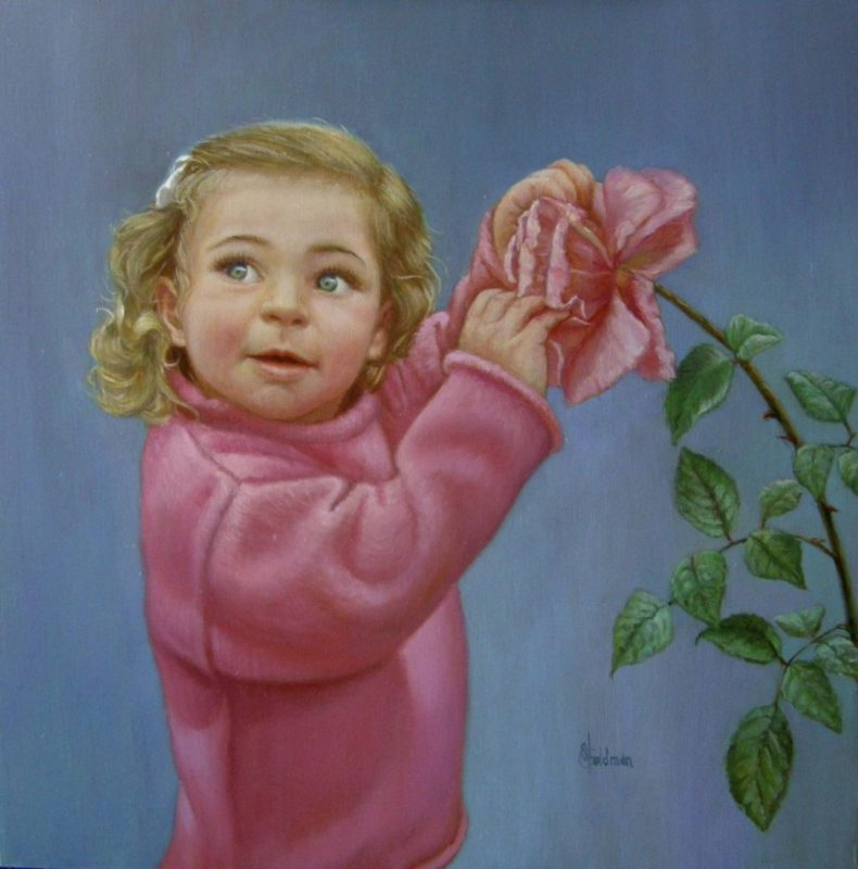 Stephanie Goldmanfineart-Elizabeth-Rose-Oil-24x24 -Commission SOLD