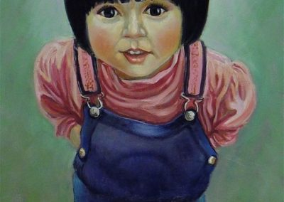 stephaniegoldmanfineart_Girl-in-Blue-Overalls_Oil-48x24