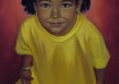stephaniegoldmanfineart_Girl-in-Yellow-Tee-Shirt_Oil-48x24