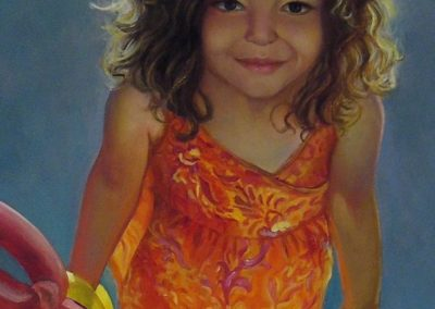 stephaniegoldmanfineart_Girl with Balloon_Oil-48x24
