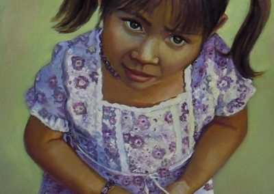 stephaniegoldmanfineart_Girl with Pig Tails_Oil-48x24