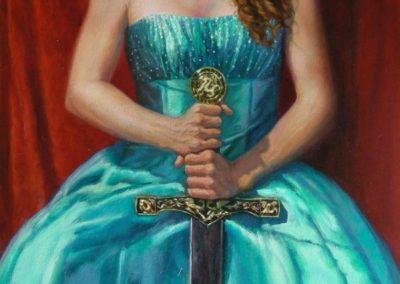 stephaniegoldmanfineart-Joan-of-Arc-Redux-Oil-48x24