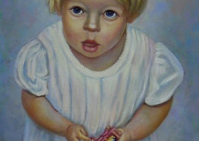 stephaniegoldmanfineart_Little Girl in White Dress_Oil-48x24