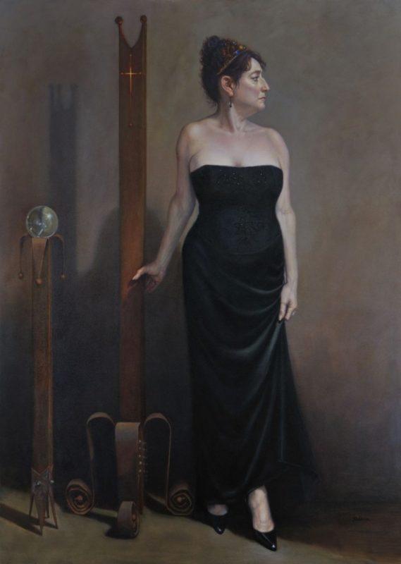 Stephanie Goldmanfineart-Portrait-of-an-American-Woman-Oil-84x60