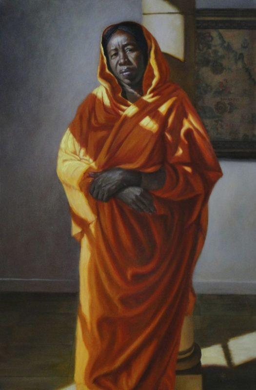 Stephanie Goldmanfineart-Sudanese-Peacemaker-Oil-36x24