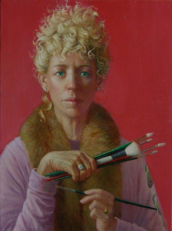 Stephanie Goldmanfineart-The-Gaze-Oil-24x18