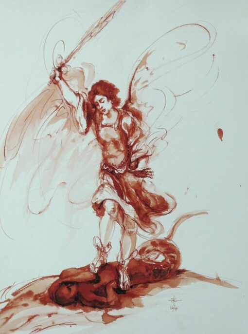 Stephanie_Goldman_Theme_Giclee_Saint Michael and the Dragon - 14