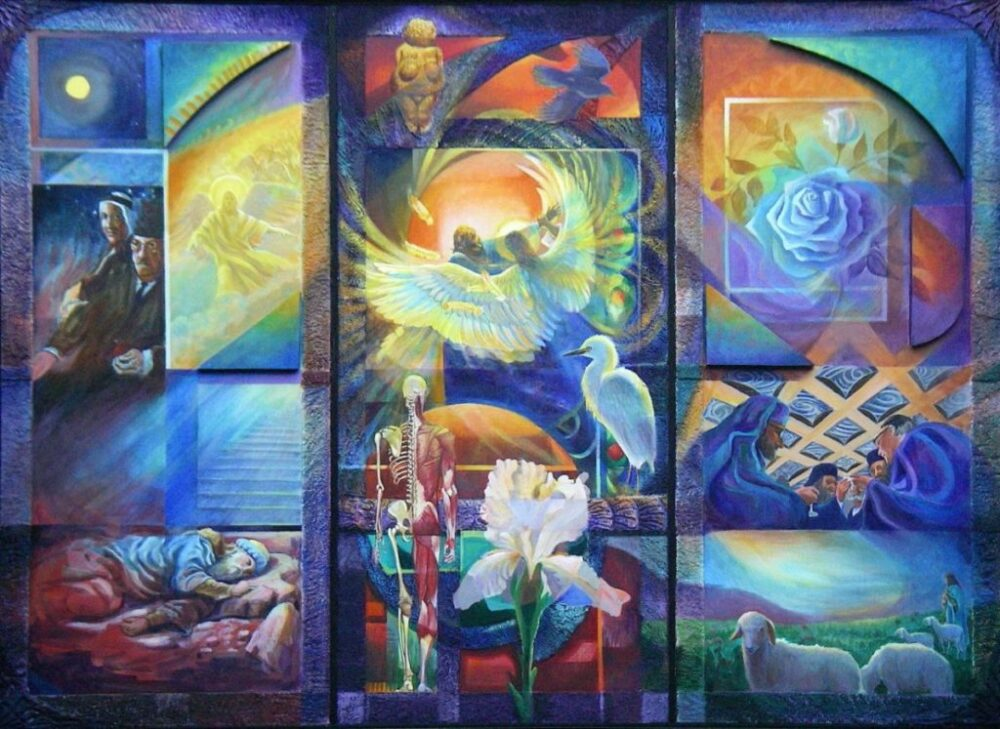 Ken_Goldmanfineart-Jacob's Journey and Resolution-Acrylic-Visual Diolgues-48x60