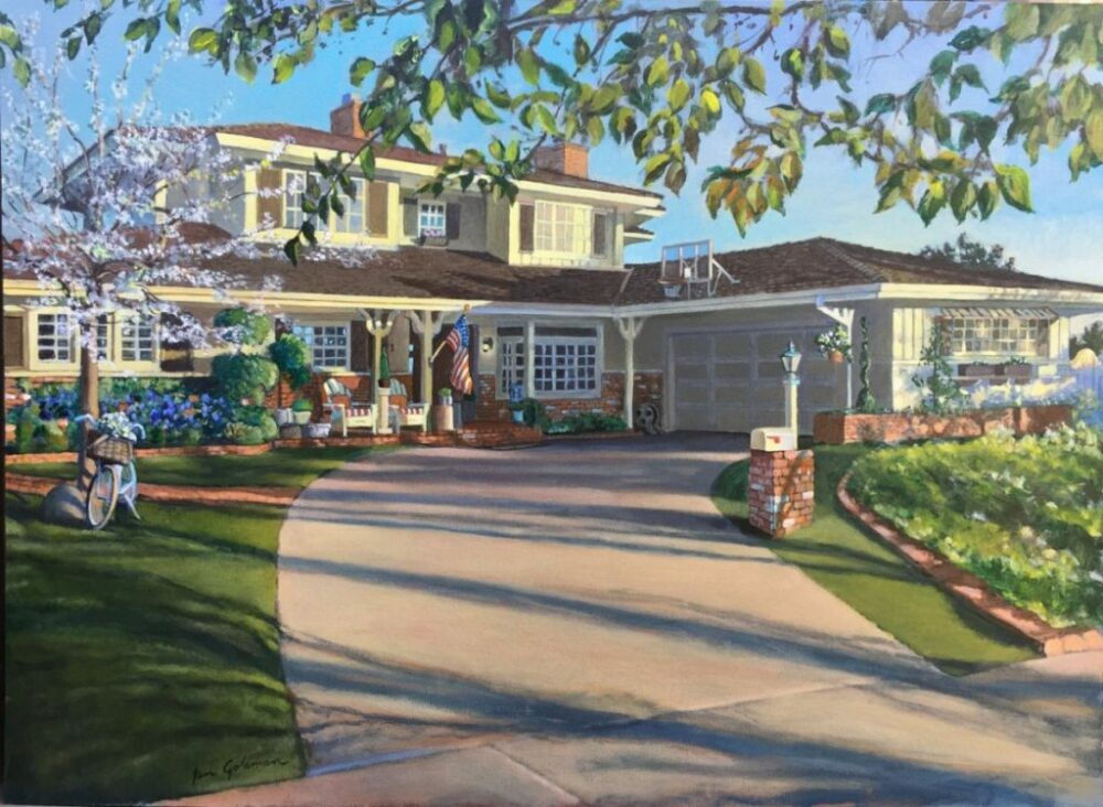 Ken Goldmanfineart-Holly Home Commission, Acrylic 24x30 Sold