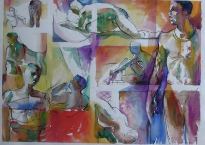 kengoldmanfineart-2, 5, 20 Minute Studies 1-Watercolor-15x22