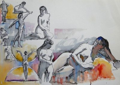 kengoldmanfineart-2, 5, 20 Minute Studies-Watercolor-15x22