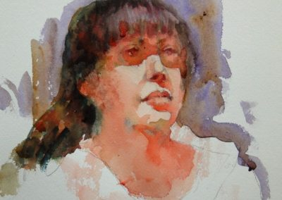 kengoldmanfineart-20 Minute Study-Watercolor-15x22 - SOLD